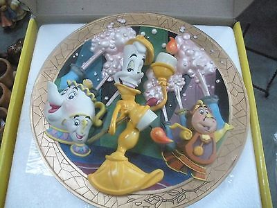"Disney's Beauty & The Beast 3D Plate ""be Our Guest"""