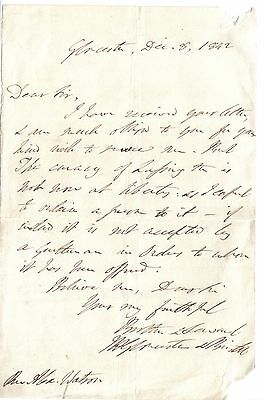 James Henry Monk - Bishop of Gloucester - 1842 letter re curacy of Lessington?