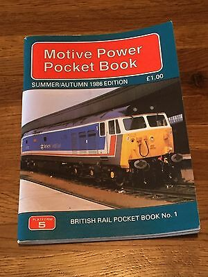 British Rail Motive Power Pocket Book Summer/Autumn 1986 Edition