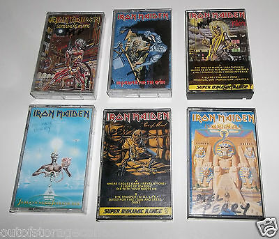 6 Iron Maiden Cassette Tapes