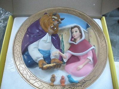"Disney's Beauty & The Beast 3D Plate ""friends At Last"""