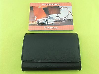 Ssangyong Kyron Owners Manual / Handbook + Case / Wallet - (2006 - 2008)
