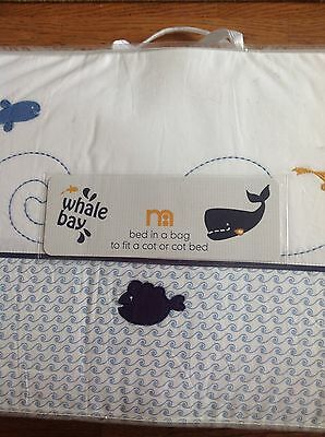 Mothercare Whale Bay Bed In A Bag For Cot Or A Cot Bed ...Bnip