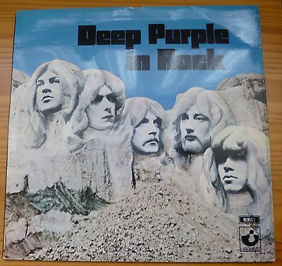 "Deep Purple in Rock 12"" Vinyl LP EMI Harvest Records Album SHVL777 EX/EX"