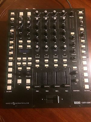 Rane Sixty Eight 68 DJ Mixer For Serato ScratchLive 4 Channels Mint Condition