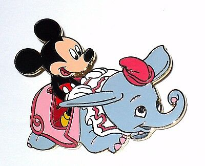 LE 500 RARE Disney Auctions Pin✿Dumbo Baby Flying Elephant Mickey Mouse Ride HTF