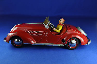Blechauto / Tin Car: Distler Wanderer Cabriolet, rot / red, 1940er / 1940ies
