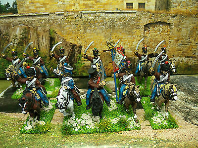 12 Pro-Painted 28Mm Front Rank Napoleonic  French 2Nd Hussars  Cavalry