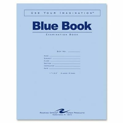 Roaring Spring Blue Book Examination Book 11'' x 8.5'' 8 Leaves 16 Pages, 50pk