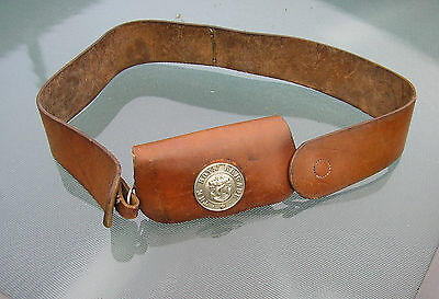Vintage Boys Brigade  Leather Sash With Integrated Pouch Abertillery No Reserve