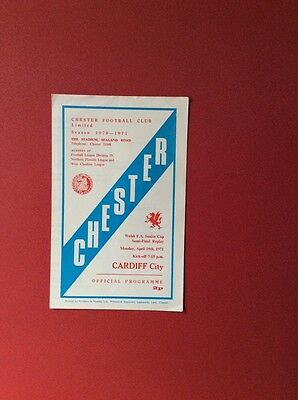 70/71 Chester v Cardiff C(Welsh cup s/f replay)