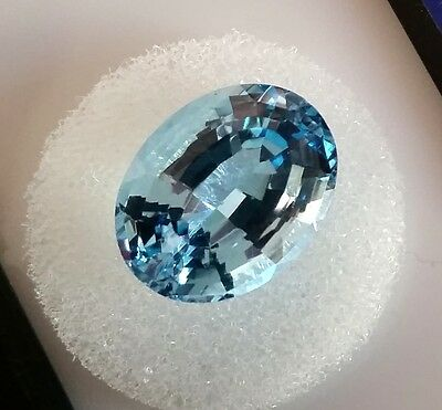 Oval Cut Genuine (Natural)  Blue Topaz ( 14x10mm ) Loose Stone 7.59ct.