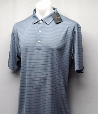 New Mens Dunning Golf golf shirt Large Fragment/ Mini Striped striped Polyester