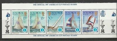 1987 Solomon Islands  Officialset,  America's Cup  U/mint