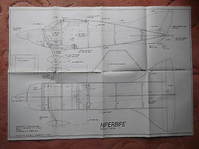 RCM&E Plans of the Hiperbipe Vol 41issue 6 a semi scale aerobatic biplane