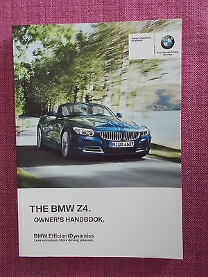 Bmw Z4  (2009 - 2012) Owners Manual - Owners Guide - Owners Handbook.  (Bm 715)