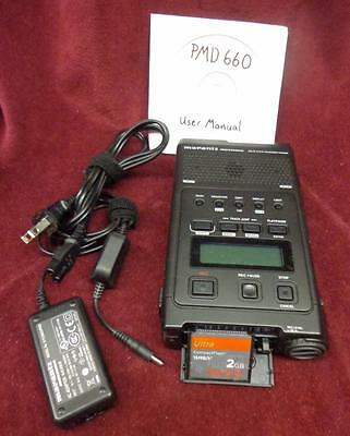 Marantz PMD 660 Solid State Field Recorder with accessories
