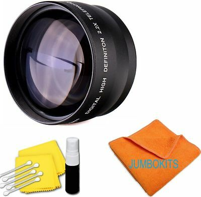 58MM 2.2X HD TELEPHOTO ZOOM LENS FOR Canon EOS 70D with 18-55mm STM Lens