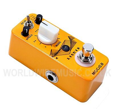 Mooer Micro Series LIQUID Digital Phaser Effects Pedal  5 Different Phaser Types