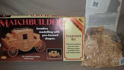 Vintage MATCHBUILDER Stagecoach Kit UNUSED & SEALED CONTENTS w Instructions
