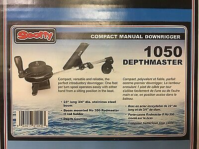 Scotty Depthmaster Manual Downrigger w/Rod Holder New In Box!