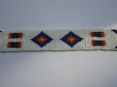 Glass Beaded Strips Leather Crafts Sewing Tribal Regalia 3 Sizes Beadwork S4