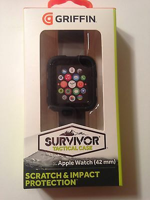 Griffin Technology - Survivor Tactical Cover for Apple Watch42mm - Black