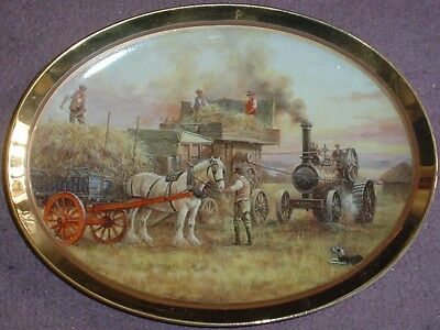 Davenport Oval Collectors Plate AUTUMN - A GOLDEN YEAR