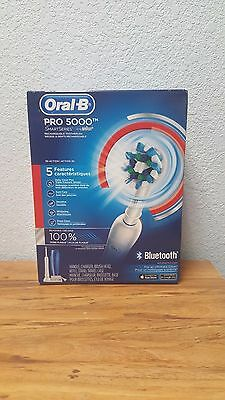 NEW Oral-B Pro 5000 SmartSeries Electric Rechargeable Toothbrush with Bluetooth.