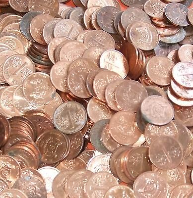 Singapore - Bulk lot of 100 Small 1 Cent coins Dated 1986+