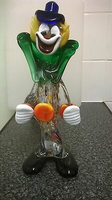 Murano glass clown 10 inches tall