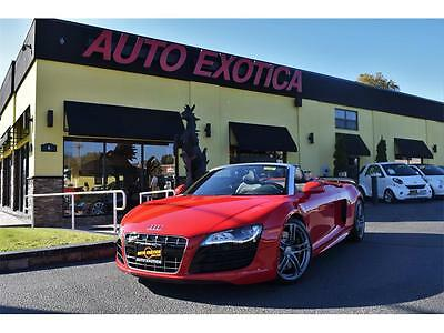 2012 Audi R8  2012 Audi R8 5.2 quattro Spyder Automatic 2-Door Convertible RED CARBON TRIM