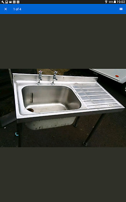 Stainless steel catering sink deep used