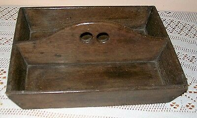 Antique ( Oak?) Two Division Cutlery Tray