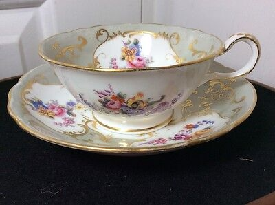 ANTIQUE Rococo CUP AND SAUCER RARE ITEM C18th PATTERN 3293