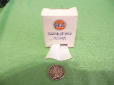Gulf Oil Company Miniature Windshield Dispenser With Towels
