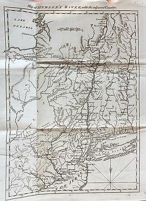 1778 newspaper large REVOLUTIONARY WAR MAP Battle Saratoga Rpt BENJAMIN FRANKLIN