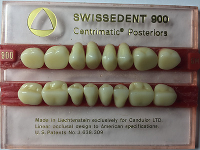 NEW Swissdent Porcelain Upper and Lower Zero Degree Posterior Teeth 1X16 card