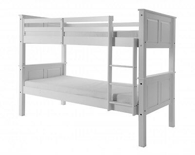 Corona Mexican Pine White Single Bunk Bed | Wooden Children's Cheap Bedroom