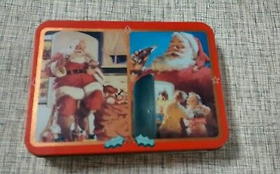 Collectible/ Vintage?-Coca Cola & Santa Playing Cards in Tin-Sealed Deck