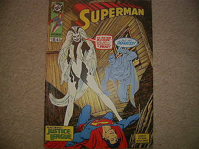 Superman No 16  London Editions Mags Jan 1989 DC Comics with the Justice league