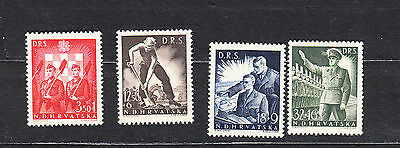 Croatia 1944 Labour Front Set Mint Hinged