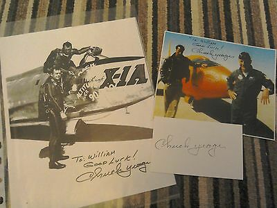 signed pictures USAF gen chuck yeager