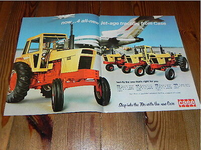 Case 770 870 970 1070 Jet-age Tractor Advertising Brochure 1969