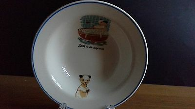 A Lovely Vintage KEELE STREET POTTERY' SOOTY' Cereal /Fruit Bowl