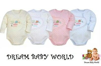 100% Cotton Baby girls boys Long Sleeve Bodysuits 9 - 12 months HIGHEST QUALITY