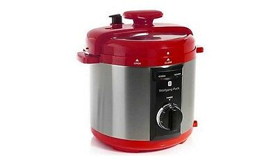 Wolfgang Puck Pressure Cooker 5-Quart Red