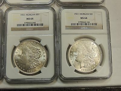 1921-P $1 Morgan Dollar NGC MS64