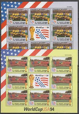 St. VINCENT & GRENS - 1994. Football World Cup - 2 x S/lets of 8, MNH