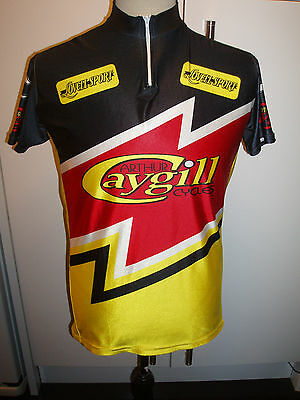 VINTAGE ARTHER CAYGILL RICHMOND cycling jersey XL LOVELL SPORT
